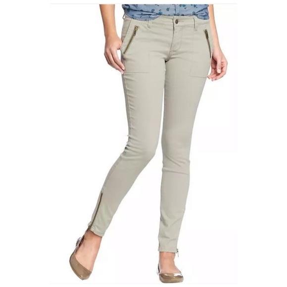 Old Navy Pants - OLD NAVY ROCKSTAR ZIP POCKET UTILITY PANT Size 8